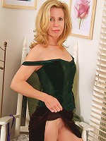 Hot grandma strips down and shows her girlish body in here