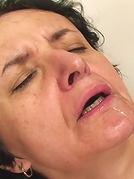 The mature beauty has great sex and when it's over she has cum dripping down her chin