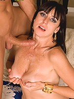 Hot brunette takes home lucky stud for a fuck